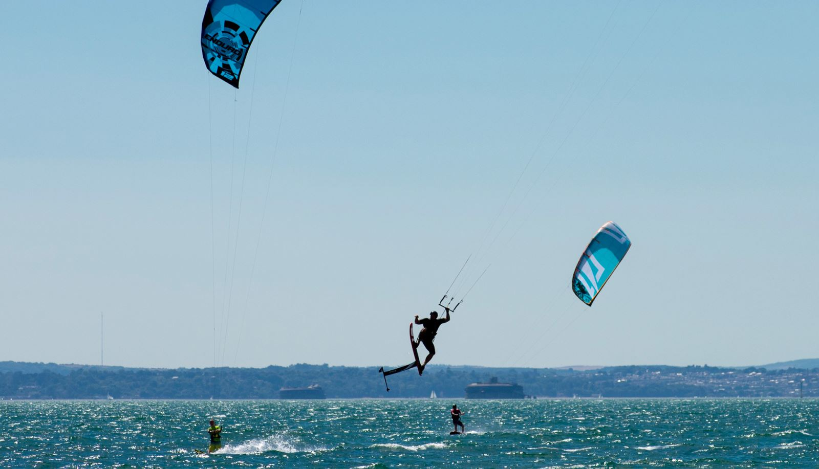 Kitesurfing on Hayling Island