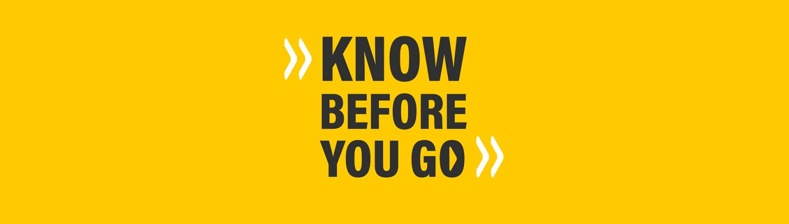 Know Before You Go Campaign Image