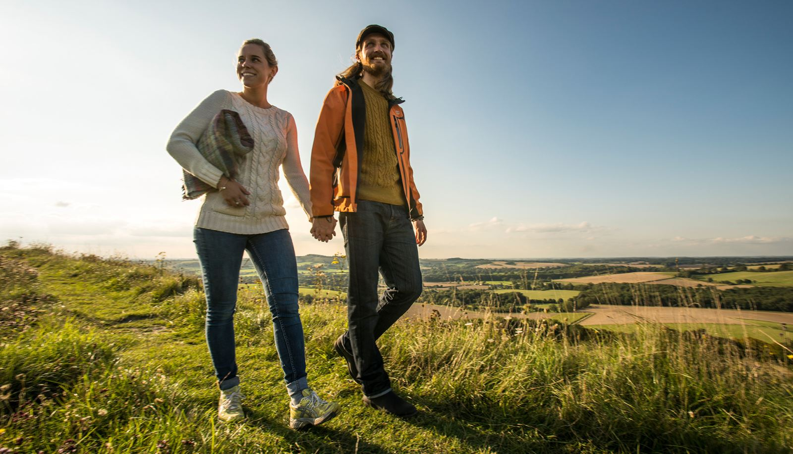 Couple Walking on Old Winchester Hill