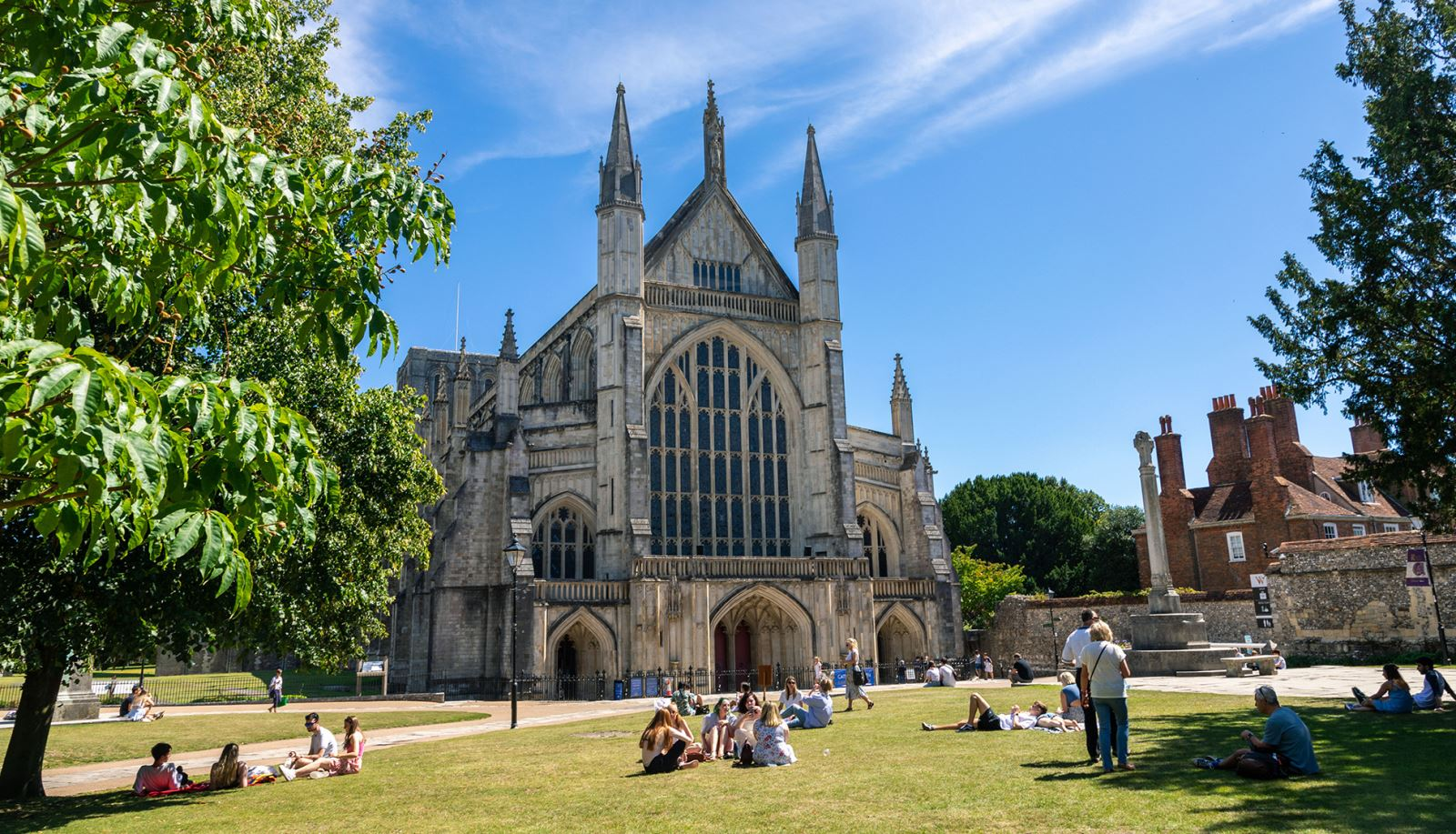 Winchester Cathedral in the city of Winchester