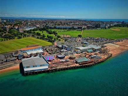 Clarence Pier Amusement Park in Portsmouth