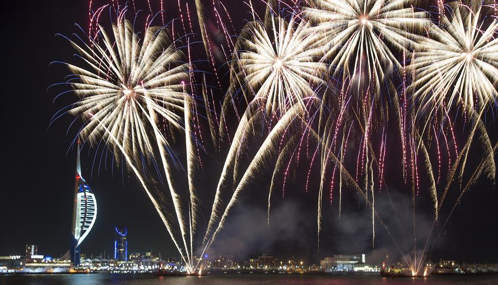gunwharf quays fireworks display what s on and events in hampshire
