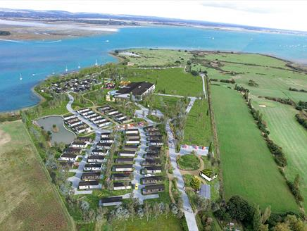 Aerial view of Mill Rythe Coastal Village - Artists impression.
