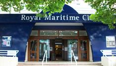 Photo of the front of the Royal Maritime Club.