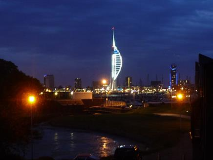 Across Portsmouth Harbour to Spinnaker Tower
