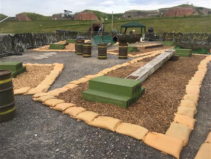 Junior assault course at Fort Nelson