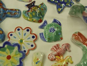 Half Term Pottery Painting Workshop at Grayshott Pottery