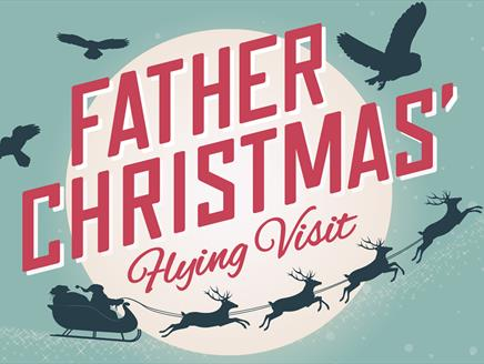 Father Christmas' Flying Visit at The Hawk Conservancy Trust