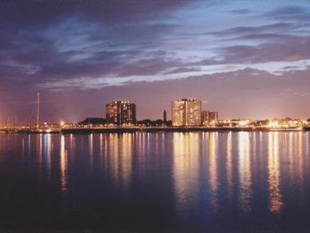 Gosport at night, taken from Portsmouth
