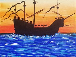 Mary Rose Paint Party - Sunset Ship