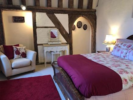 Bedroom at Michelmersh Manor Farm