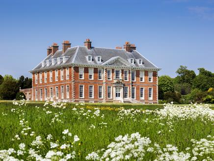 Uppark, south front of the house from the meadow, National Trust Images, Andrew Butler