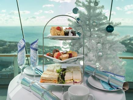 Festive High Tea at Emirates Spinnaker Tower